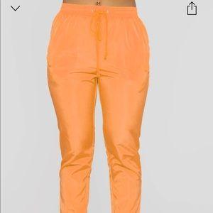 Orange Windbreaker Joggers